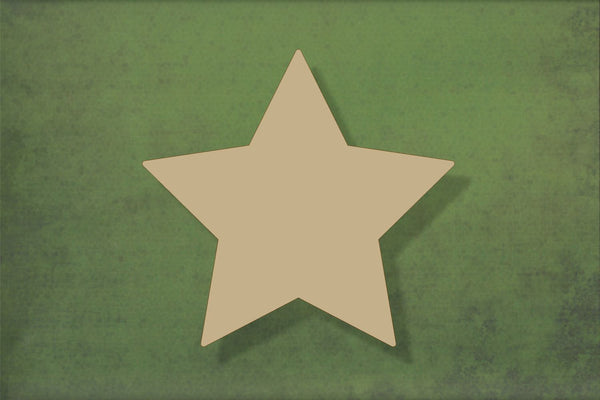 Laser cut, blank wooden Pointed star shape for craft