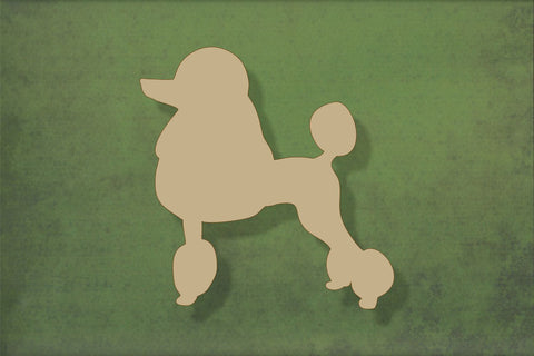 Laser cut, blank wooden Poodle shape for craft