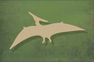 Laser cut, blank wooden Pterodactyl dinosaur shape for craft