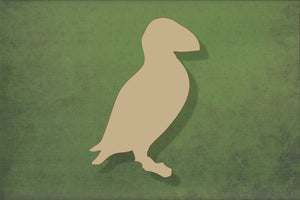 Laser cut, blank wooden Puffin shape for craft