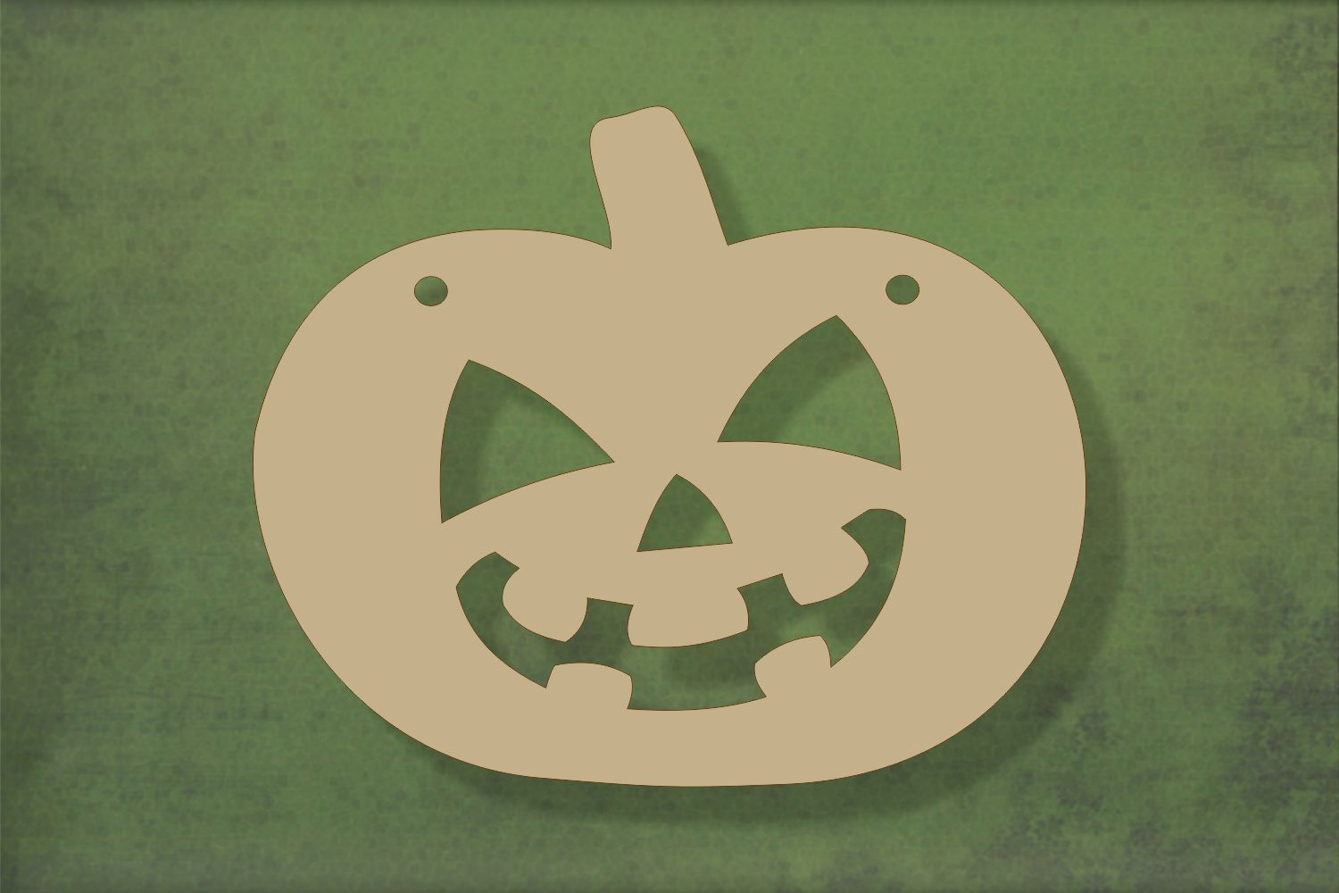 Laser cut, blank wooden Pumpkin 3 with halloween face shape for craft