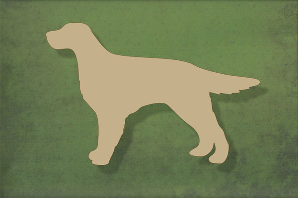 Laser cut, blank wooden Red setter shape for craft