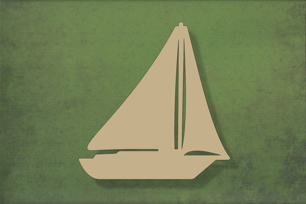 Laser cut, blank wooden Sailing Boat 1 shape for craft