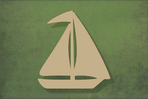 Laser cut, blank wooden Sailing boat 2 shape for craft