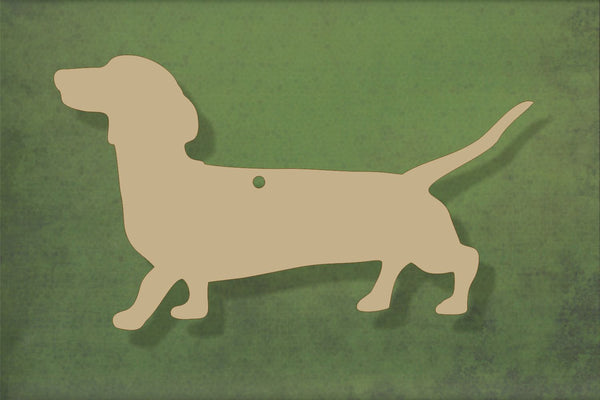 Laser cut, blank wooden Sausage dog Dachshund shape for craft
