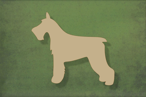 Laser cut, blank wooden Schnauzer shape for craft