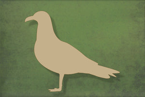 Laser cut, blank wooden Seagull standing shape for craft