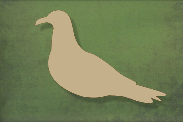 Laser cut, blank wooden Seagull with no legs shape for craft