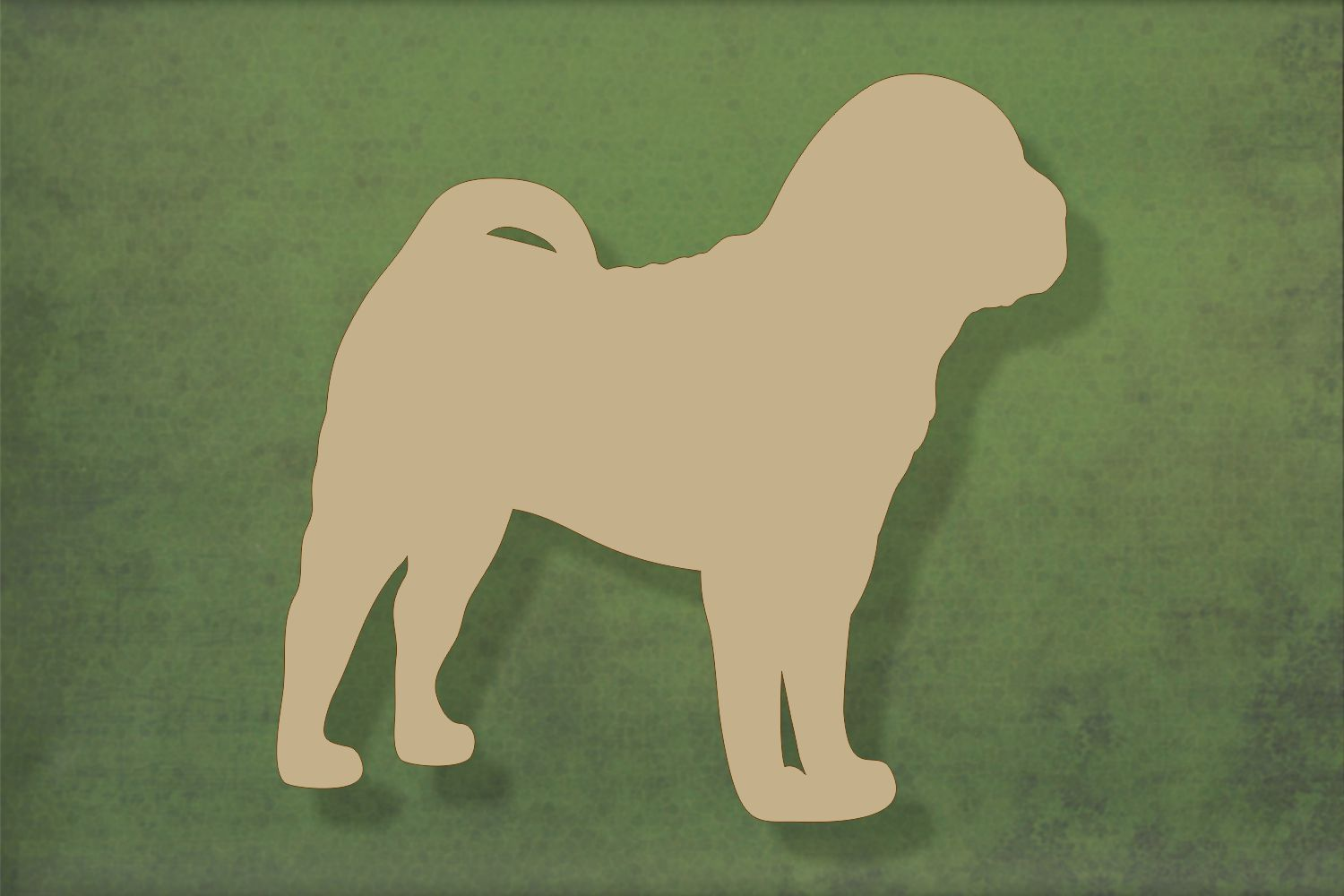 Laser cut, blank wooden Shar Pei 3 shape for craft