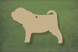 Laser cut, blank wooden Shar Pei shape for craft