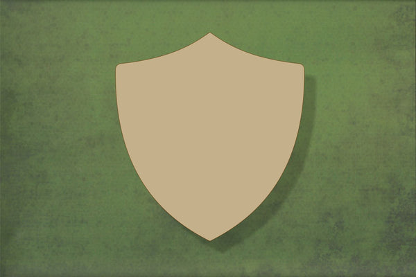 Laser cut, blank wooden Shield 1 shape for craft