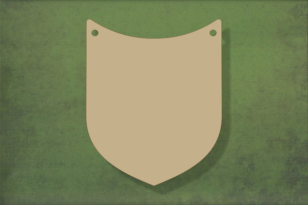 Laser cut, blank wooden Shield 2 shape for craft