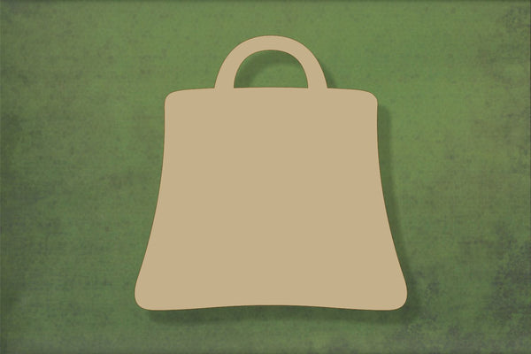 Laser cut, blank wooden Shopping bag shape for craft