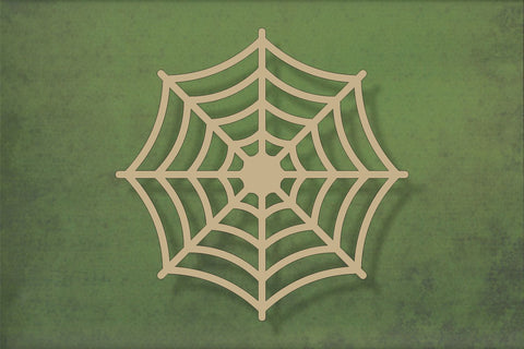 Laser cut, blank wooden Spiders web shape for craft