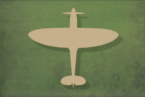 Laser cut, blank wooden Spitfire top view shape for craft