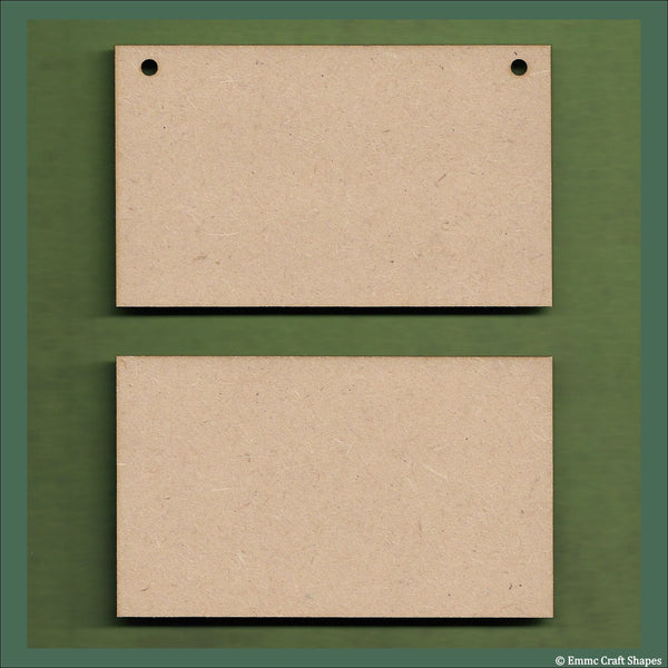 Plaques with square corners 3mm MDF
