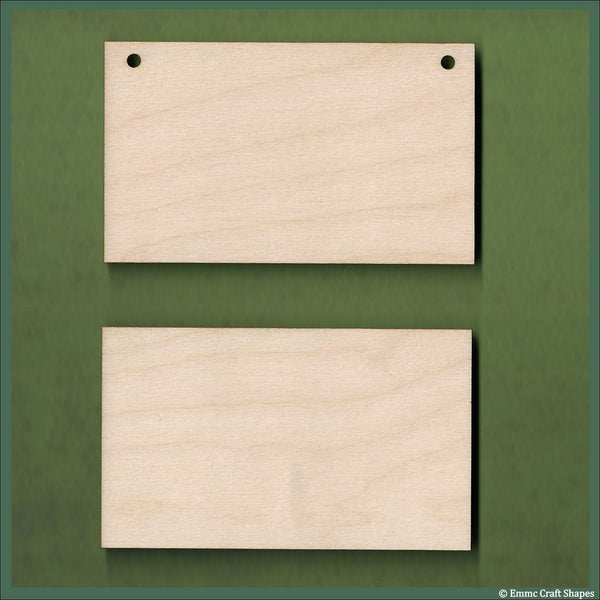 7 cm Wide 4mm thick Birch plywood Plaques with square corners