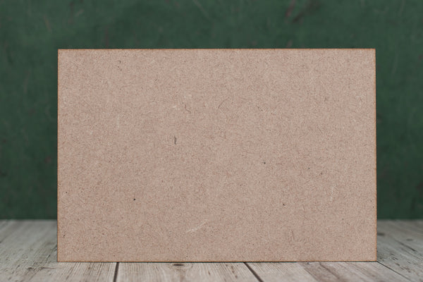 7 cm Wide 3mm thick MDF Plaques with square corners