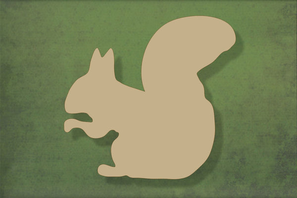 Laser cut, blank wooden Squirrel shape for craft