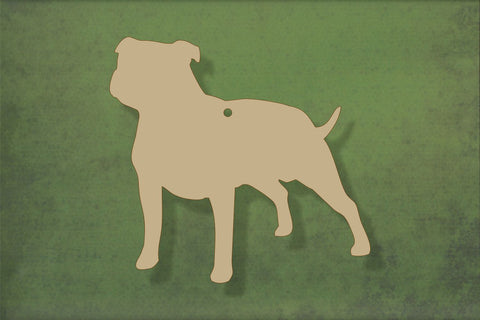 Laser cut, blank wooden Staffy shape for craft
