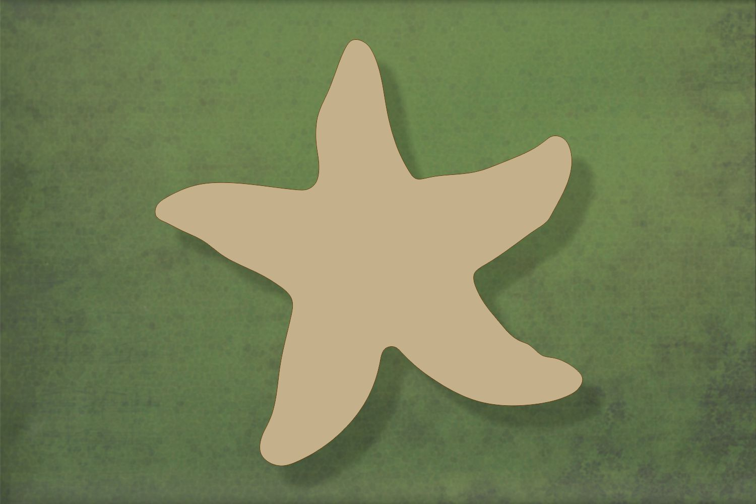 Laser cut, blank wooden Starfish shape for craft