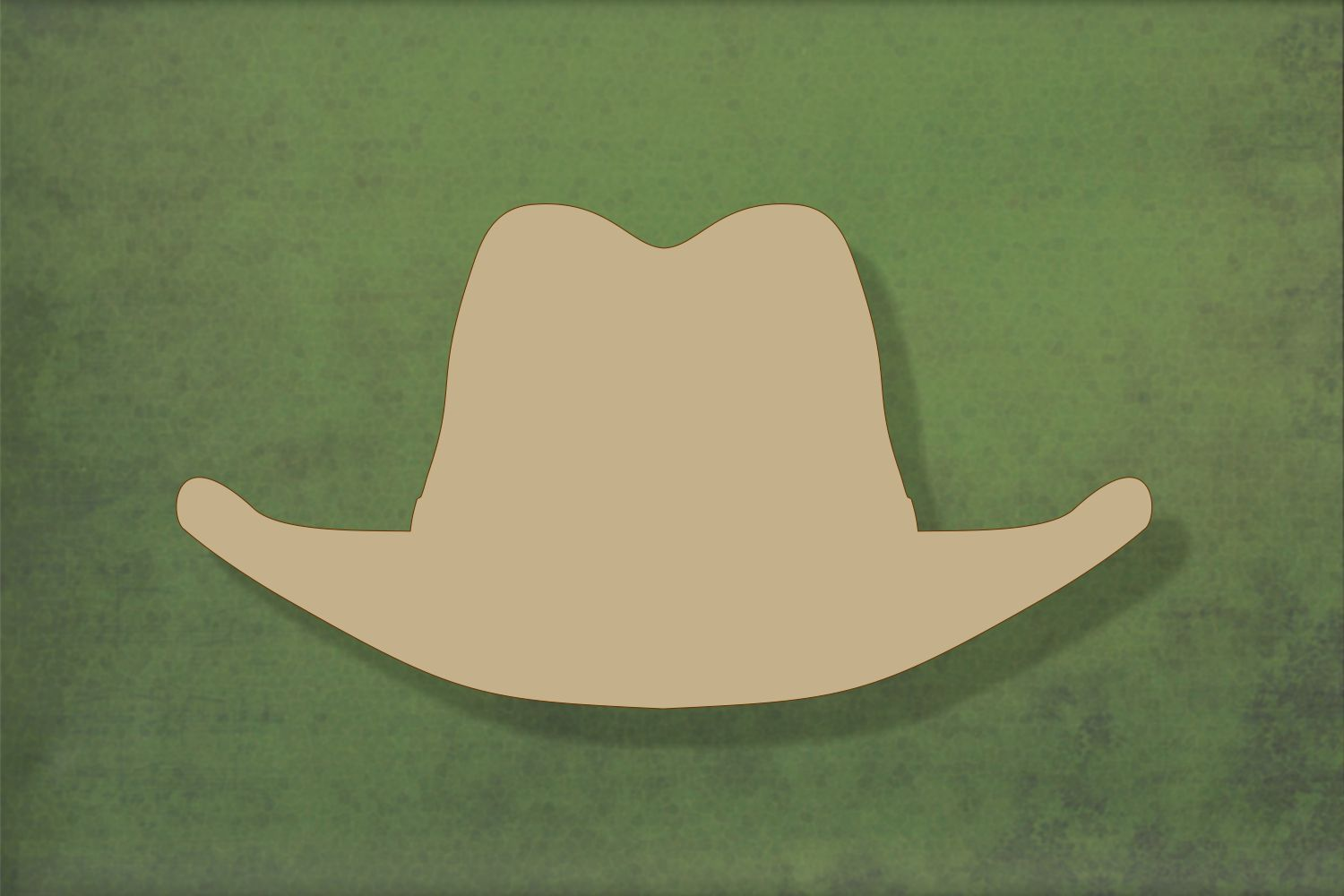 Laser cut, blank wooden Stetson-cowboy hat shape for craft