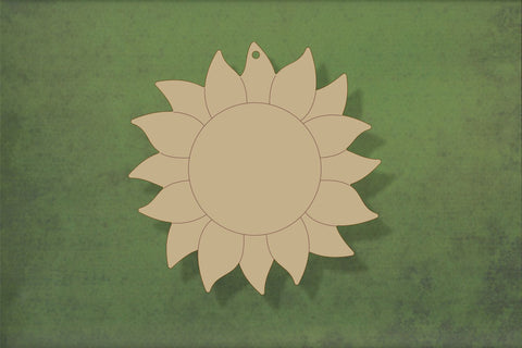 Laser cut, blank wooden Flower sunflower shape for craft