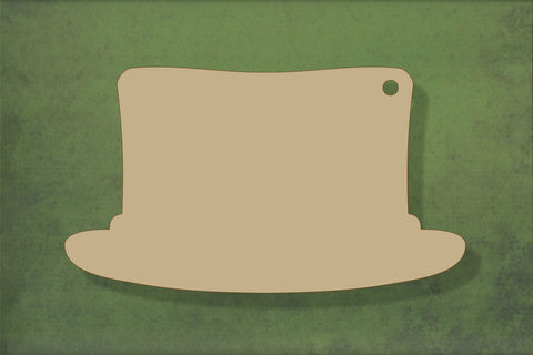 Laser cut, blank wooden Top hat shape for craft