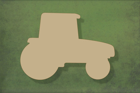Laser cut, blank wooden Tractor shape for craft