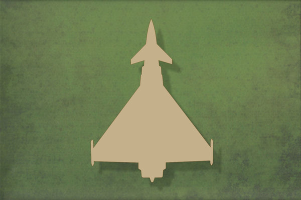 Laser cut, blank wooden Typhoon jet plane shape for craft