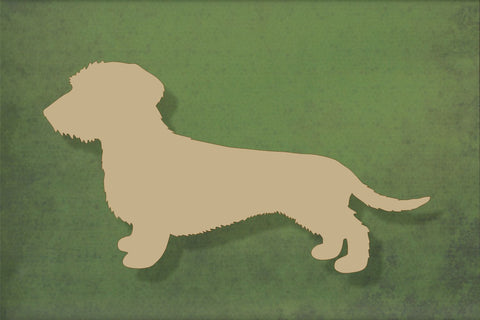Laser cut, blank wooden Wire haired Dachshund shape for craft