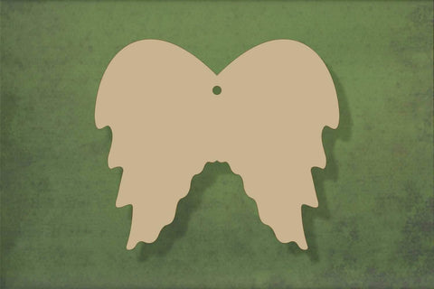 Laser cut, blank wooden angel wings shape for craft