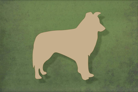 Laser cut, blank wooden Border collie shape for craft