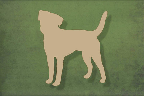 Laser cut, blank wooden Border terrier shape for craft