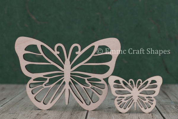 4mm thick plywood butterfly shape with intricate cutout design on the wings
