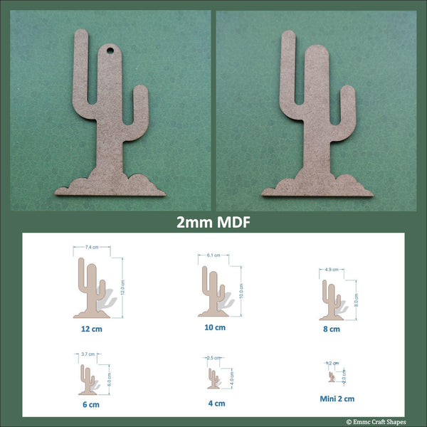 Cactus shapes - 2mm MDF