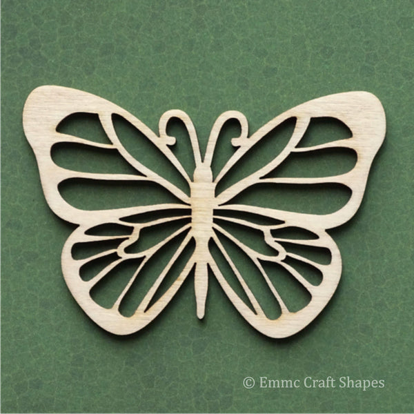 Filagree style cutout butterfly. Laser cut from 4mm birch plywood