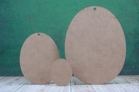 2mm MDF Wooden Egg Shape