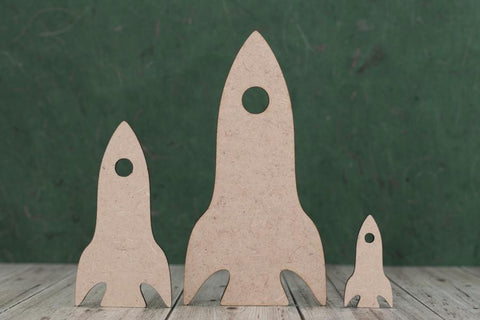 3mm MDF Space Rocket Craft Shapes