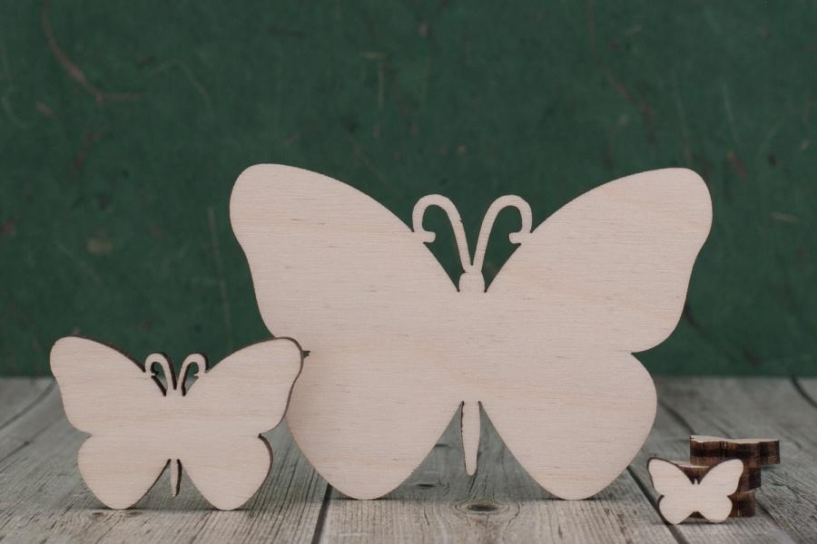 4 mm Plywood Butterfly Blanks