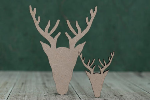 3mm MDF Stag Head Shapes