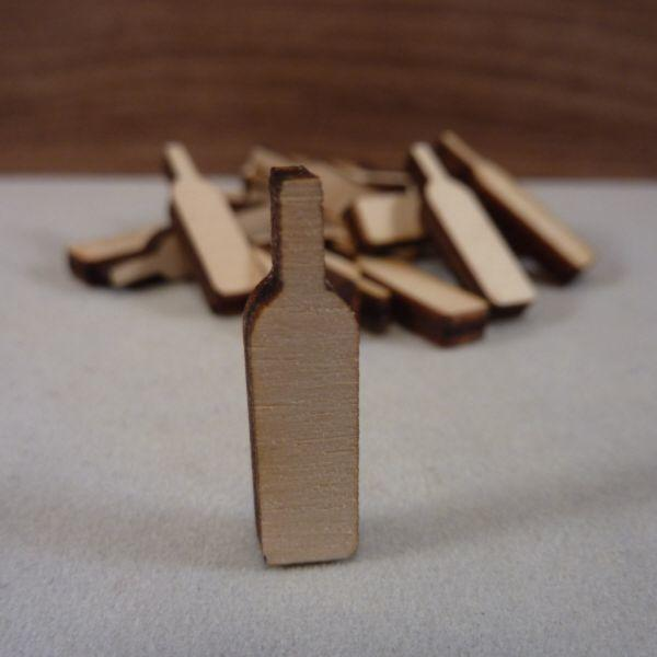 Plywood Wine Bottle Craft Tag - 2.5 cm