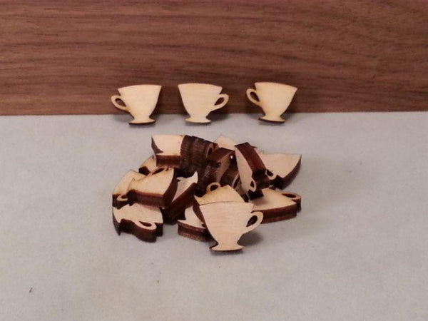 Plywood Tea Cup Shape - Mini 1.5 cm