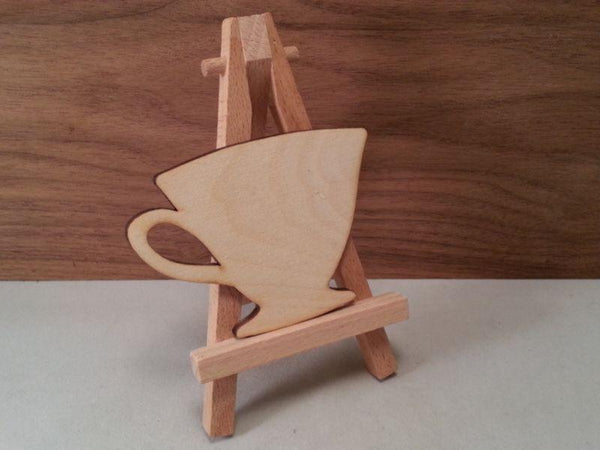 Plywood Tea Cup Shape - 7.8 cm