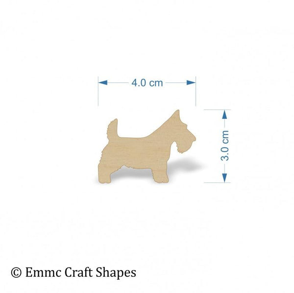 Plywood Scottie Dog Blanks - 4 cm
