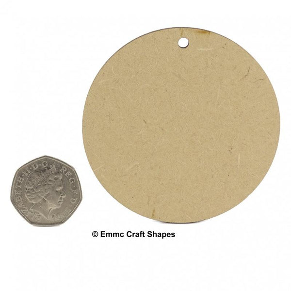 3 mm MDF Circle Blanks - 7.5 cm