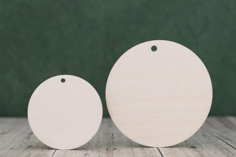Plywood Circle Blanks - with hanging holes