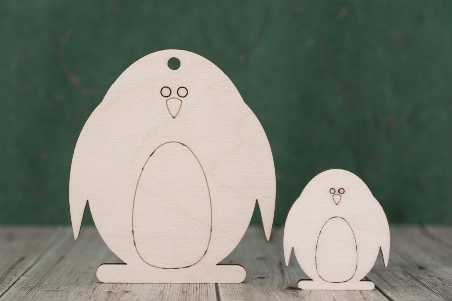 Plywood Penguin Tags