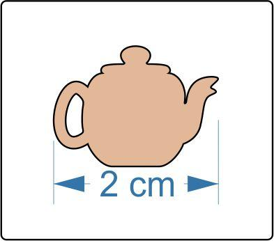 3mm MDF Teapot Shape - mini