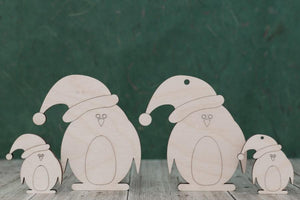 4 mm Plywood Christmas Penguin Shapes